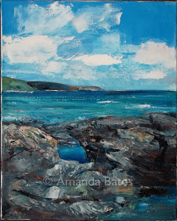Rock pools, Prussia Cove, oil, £250