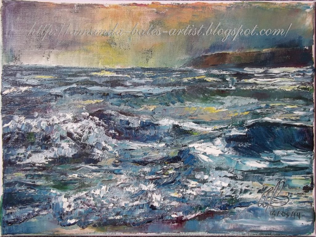 Sunsetting (over Penlee Point), oil, £150