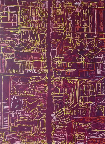 Jane Walker, Divided City, Oil on Canvas 76x56cm £250