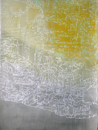 Edge of a City, Watercolour on paper 76x56cm £180