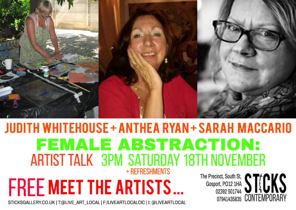 Artist Talk: Judith Whitehouse, Anthea Ryan and Sarah Maccario