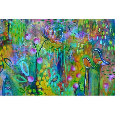 Kristy Fleury, Glade, 2017, Acrylic on Canvas £450 (121cm x 61cm)