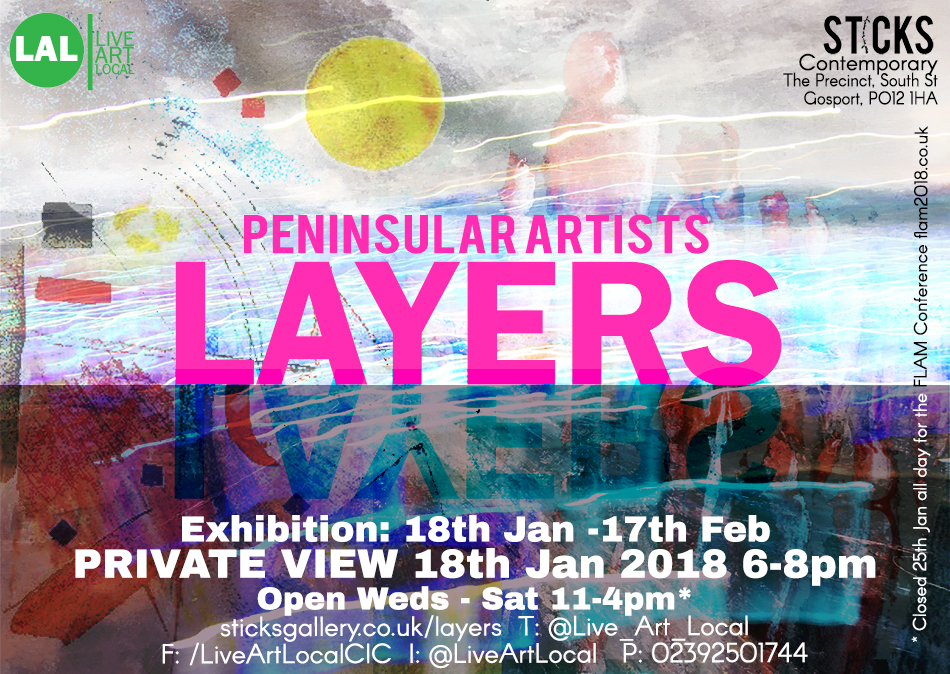 Layers Exhibition Flyer